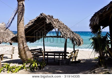 Picnic Huts On Beach