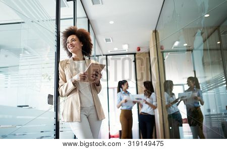 Portrait Of A Happy Young African Business Woman Smiling