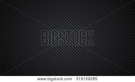 Carbon Fiber Background . Carbon Weave Black Texture .
