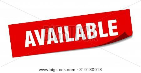 Available Sticker. Available Square Isolated Sign. Available