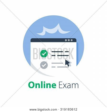 Pass Online Exam, Knowledge Review, Test Score, Distant Learning, Complete Course, Internet Educatio