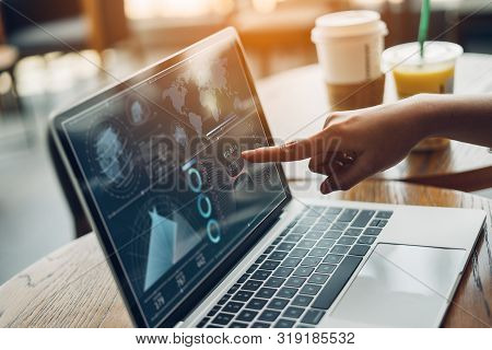 Analytics Plan Strategy Insight And Technology Concept.business Women Working Digital Tablet And Com