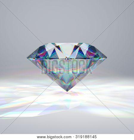 Reaslitic colorful diamond - 3d illustration