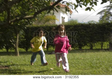 Girls Playing