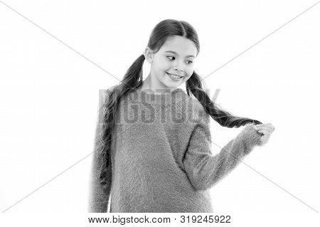 Treatment Hair Breakage. Amazing Beauty Remedies For Split Hair. Get Rid Of Split Ends. Girl Cute Ch