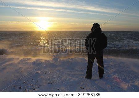 Beautiful View Of The Winter Bering Sea