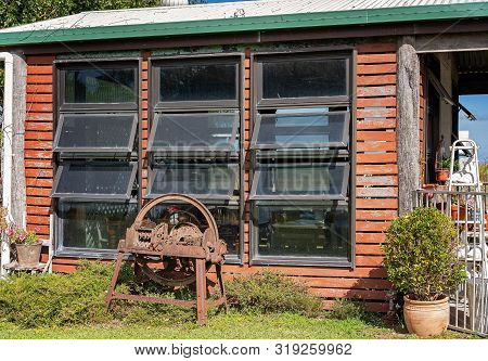 Exterior Of An Old Rustic But Quaint Cafe In The Country