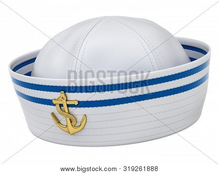 Sailor Hat Isolated On White Background - 3d Illustration