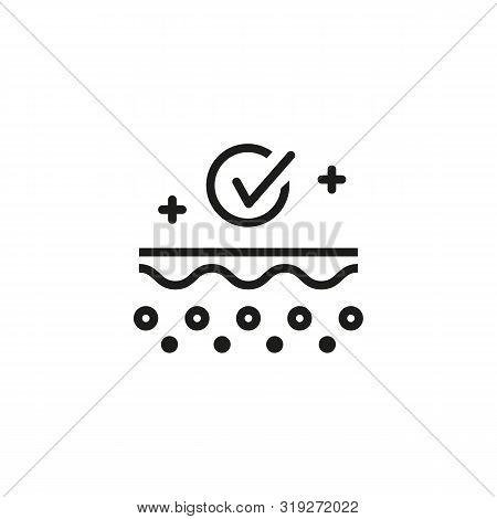 Skin Hygiene Line Icon. Skin Layers, Epidermis, Healthy Skin. Skincare Concept. Vector Illustration