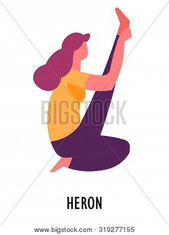 Heron Asana, Yoga Pose, Sport And Fitness, Meditation