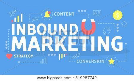 Inbound Marketing Concept. Magnet As A Metaphor
