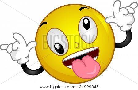 Illustration of a Smiley Goofing Around