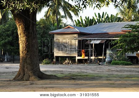 Country Old House Thailand Style Vintage Retro