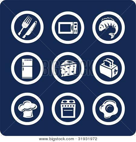 Comida y cocina (p.2). Para ver todos los iconos, búsqueda por palabras clave:
