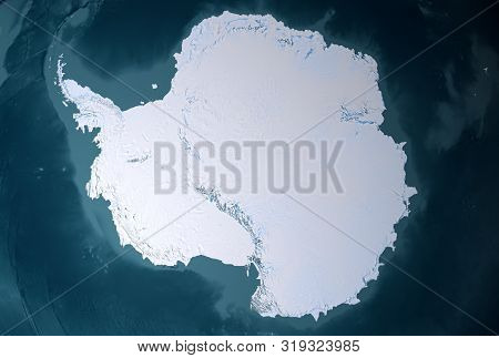 Antarctica From Space, Mainland. Elements Of This Image Were Furnished By Nasa For Any Purpose