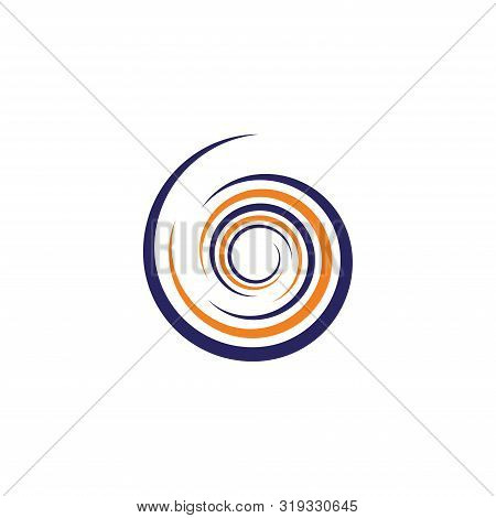 Spiral And Swirls Logo Design Elements, Icons, Symbols And Signs. Flower Swirl Line Logo, Spiral Log