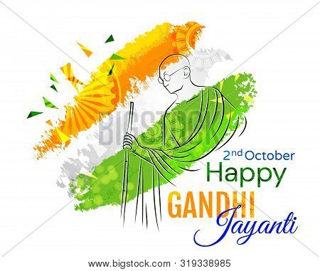 Colorful Poster Or Card Design For The Gandhi Jayanti Holiday Celebration In India On The 2nd Octobe