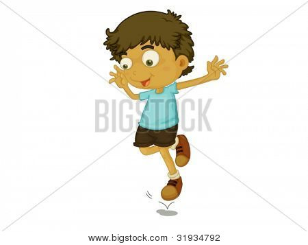 Illustration of a child jumping