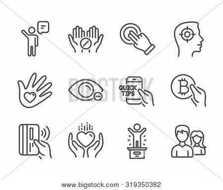 Set Of People Icons, Such As Education, Winner Podium, Touchscreen Gesture, Medical Tablet, Hold Hea