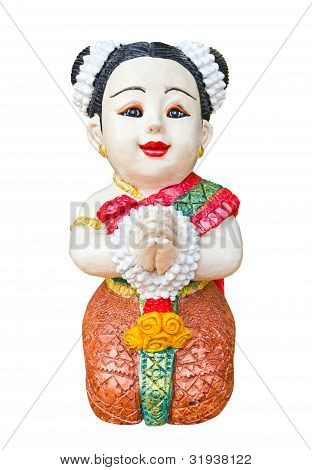 Thai Girl Sculpture For Welcome