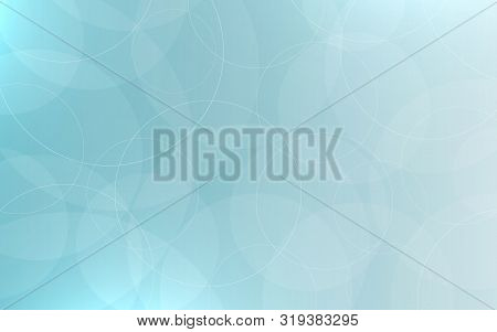 Abstract Neutral Background. Smooth Bubbles And Circles. Blue Backdrop With Highlights. Calm Gray Gr