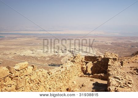 walls in Masada fortress