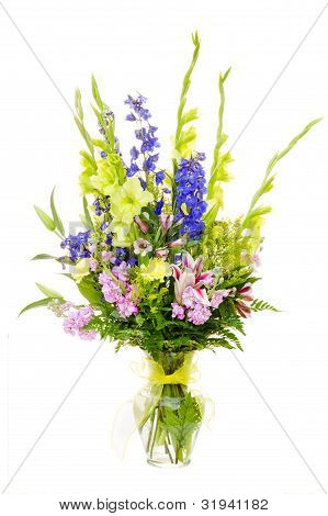 Large colorful flower arrangement