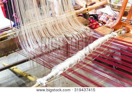Weaving Equipment Household Weaving - Detail Of Weaving Loom For Homemade Silk Used For Silk Weaving