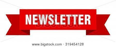 Newsletter Ribbon. Newsletter Isolated Sign. Newsletter Banner