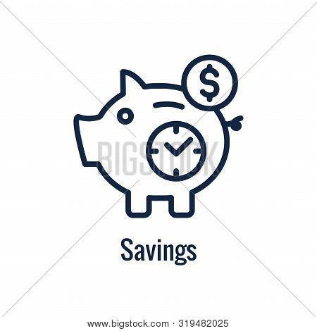 Retirement Savings Icon W Retiring And Monetary Images