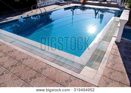 Luxury Pool Design Modern House Architecture. Swimming Pool, Pool, Swimming, Relaxation. Swimming Po