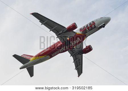 Passenger Airplane At Phuket Airport