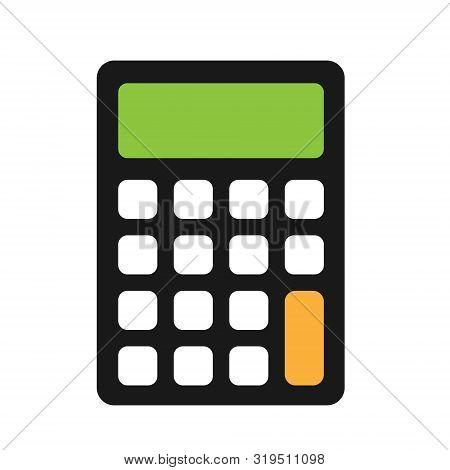 Calculator Icon. Flat Calculator Symbol, Illustration