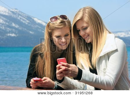 Girls On Cell Phone