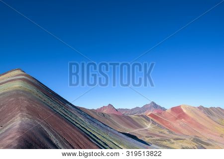 The 7-colored Rainbow Mountain In The Beautiful Andes Near Cusco, Peru