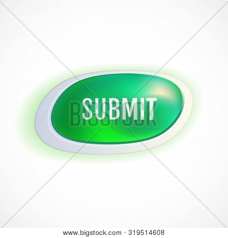 Submit Green Button. Vector Yes Button. Vector Illustration For Your Graphic Design.