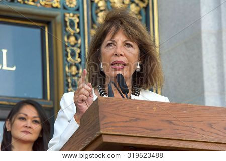 San Francisco, Ca - August 26, 2019: Congress Woman Jackie Speier Speaking At The 2nd Annual Womens