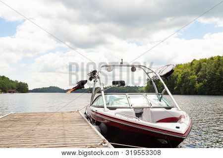 A Composite Picture Taken On Lake Joseph Representing The Muskoka Boating Accident Involving Kevin O