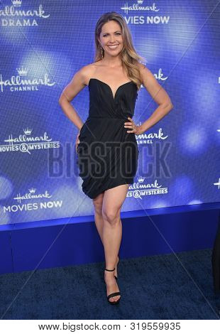 LOS ANGELES - JUL 26:  Pascale Hutton arrives for the Hallmark Channel and Hallmark Movies & Mysteries Summer 2019 TCA on July 26, 2019 in Los Angeles, CA