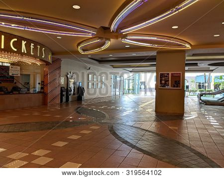 Honolulu -  August 24, 2018:  Ticket Area Of Movie Theater Regal Dole Cannery Imax & Rpx With Movie