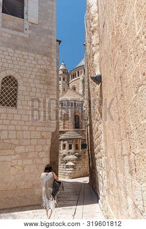 Streets Of Old Jerusalem, Holy City, Israel. Stock Photo