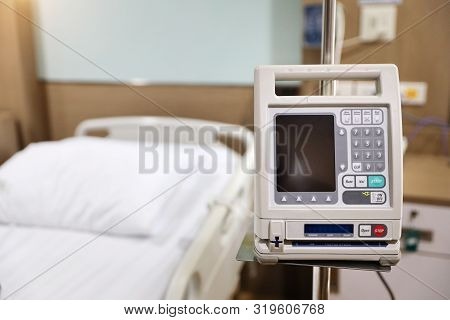 Dialysis Machine With Bed In Hospital Background