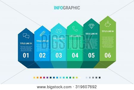 Vector Infographics Timeline Design Template With Chart Elements. Content, Schedule, Timeline, Diagr