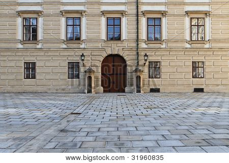 Vienna Hofburg Palace - Entrance Door in Inner Square (Innerer Burghof) poster
