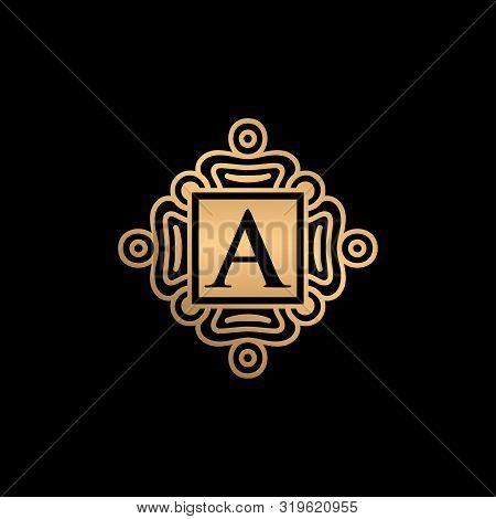 A Letter Logo, A Monogram Logo, A Letter With Ornament Logo