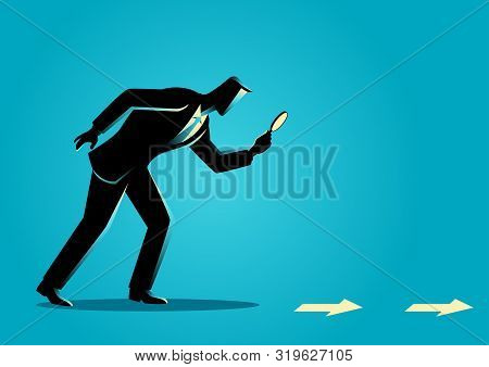 Business Concept Vector Illustration. Searching, Details, Clue
