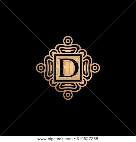 D Letter Logo, D Monogram Logo, D Letter With Ornament Logo