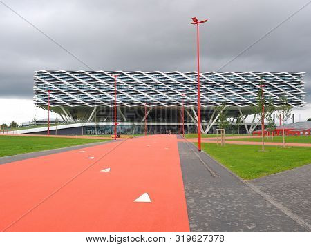 Herzogenaurach, Germany - August 19, 2019:  Building Called Arena, The New 2019 Opened Headquarter O