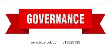 Governance Ribbon. Governance Isolated Sign. Governance Banner