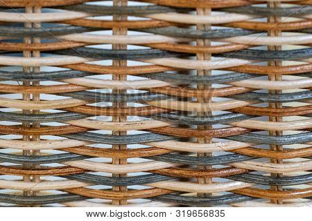 Weaving From A Colored Vine. Handmade Wickerwork Pattern.